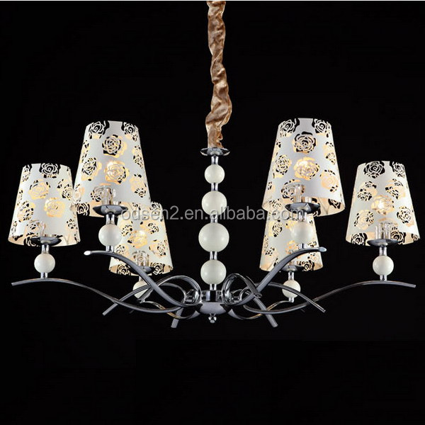 Odsen iron carving flower pendant light for home or hotel made in ZhongShan China