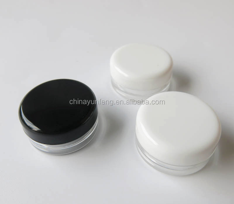 3g plastic sample cream jar for wholesale