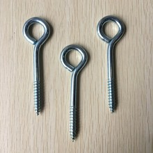L wood screw hook galvanized