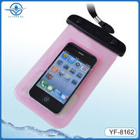 Pink Waterproof Bags for sumsung s4 s5 with Arm Strap