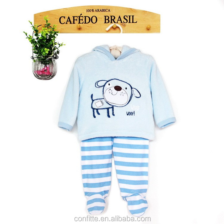 2016wholesales baby clothes sets top fashion winter soft handfeel baby girls cltohes set