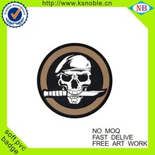 New 2016 cool design custom rubber badge, silicone patch