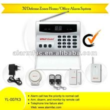 Price slashed!!!auto dialer security home burglar alarms system wireless withlaser sensor alarm(YL007K3)