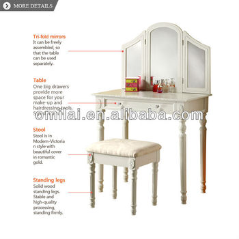 makeup table with jewelry storage