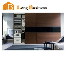 LB-JL3061 Strength vendors wooden white lacquer coating home furniture wardrobe for clothes closet