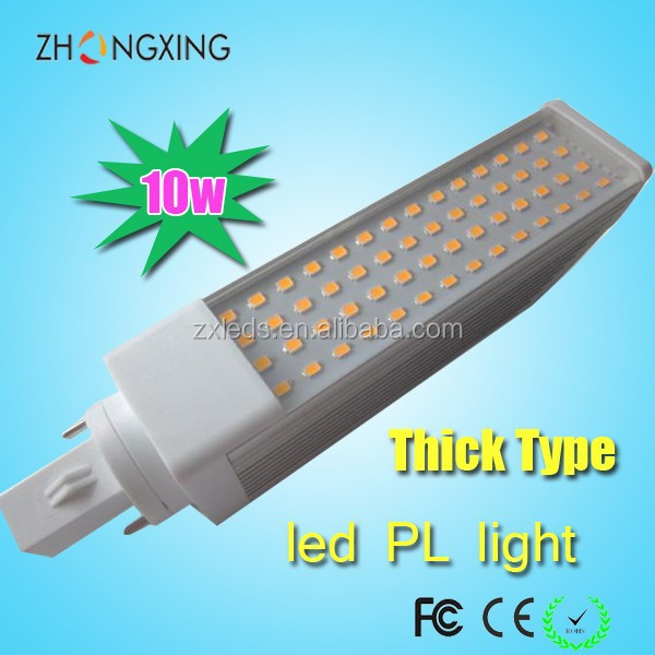 Energy saving Warm white 3000k High lumen AC 120V 220V 10 watt LED pl g24d-2 G24d-3 led