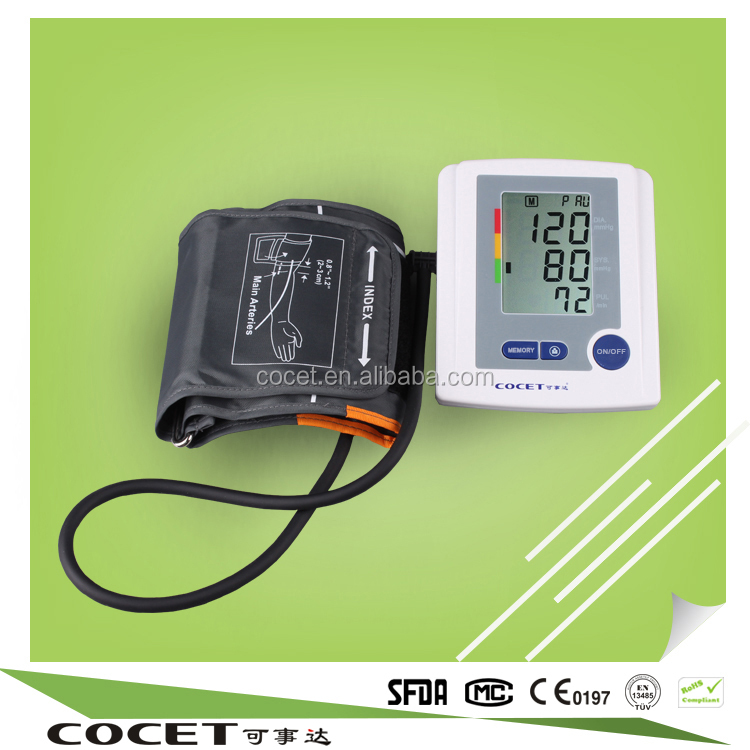 hot sale Cocet home use heart rate led arm blood pressure monitor medical appliance assembly digital sphygmomanometer