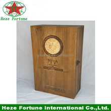 Disposable wooden material Feature 6 bottle wine bottle carrier