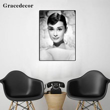 Factory Price Audrey Hepburn Picture Elegant Sexy Lady Art Oil Painting
