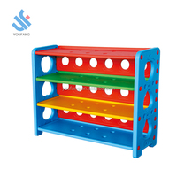 YF-04001 cheap plastic corner shelf muti-function kids plastic toy storage shelf book shelf children toy storage cabinets
