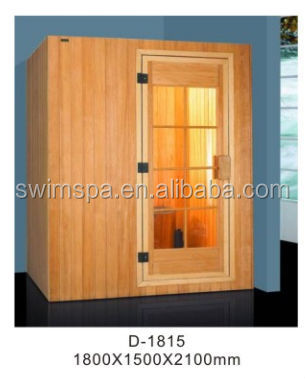 New product 2014 best price 2 person dry sauna steam room with sauna heater