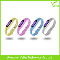 Yaika high tech precision silicone bracelet fitness wristband pedometer for body building