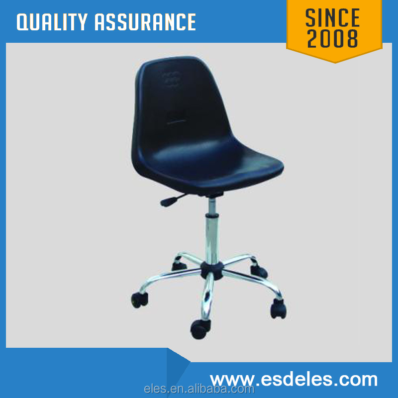 Black/Blue antistatic ESD chairs with pu foam seat