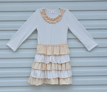 2017 New Style Long Sleeve Mutil Ruffle Baby Girl Dress Teen Girls Wear Dresses For Wholesale