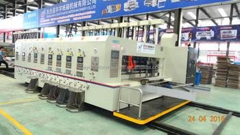 HUAYU-A high clear 5 color printer dryer slotter die cutter machine
