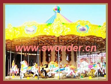 Fairground rides for sale kiddie merry go round carousel horse rides for mall