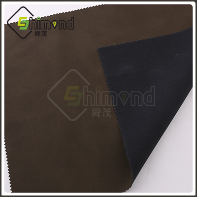 Brown Color Soft Feeling PU Leather Material for Goat Leather Garment