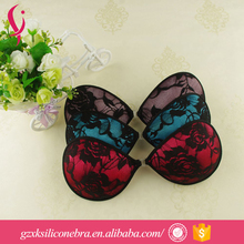 OEM Guangzhou Beauty Adhesive Bra Cups Black Lace Bra