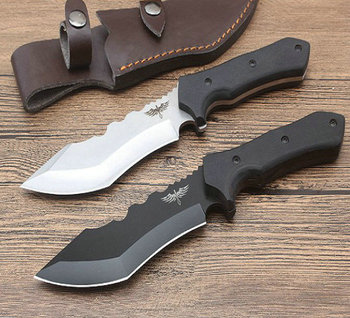 Black color wood Handle Hunting Knife Camping Tool 8CR13MOV Blade Steel Knives Hand Tool Dropshipping 2762