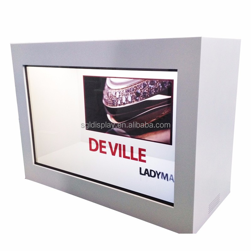 lcd panel advertising transparent display