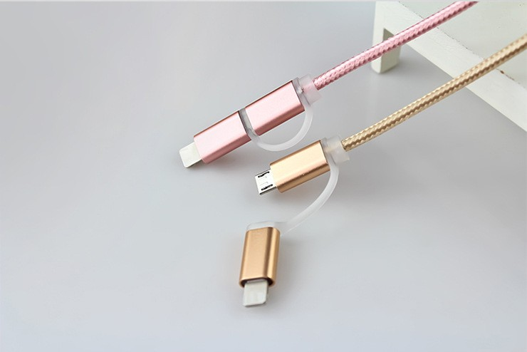 Guangdong optical fiber cable double braided usb micro copper wire