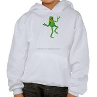 Boy's Fancy Gym Hoodie The Muppets Kermit dancing Hoodie Custom Sublimation Printed Hoodies For Children