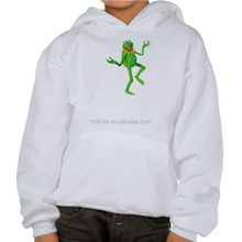 Boy's Fancy Gym Hoodie The Muppets Kermit dancing Hoodie Custom Sublimation Printed Hoodies For Children