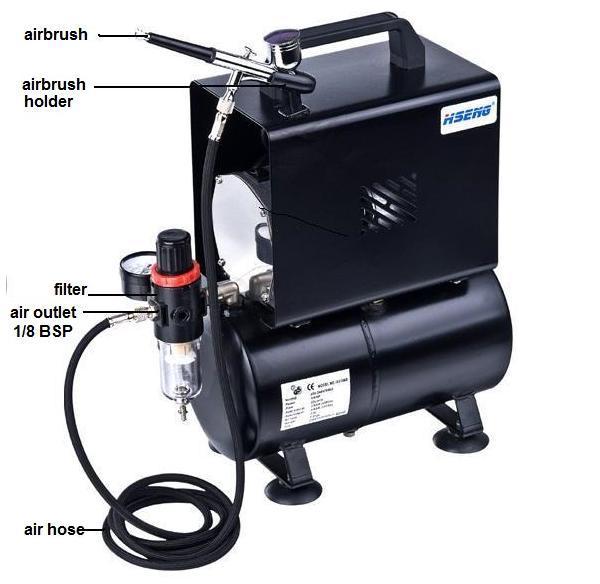 As186bk airbrush temporary tattoo machine buy cheap for Airbrush tattoo kit