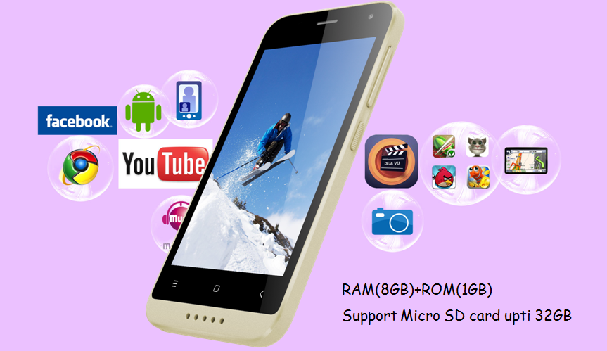 Original MTK6737 Quad Core 4.0 Inch Android 4G LTE OEM Smartphone mobile phone chinese copy