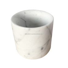 Italy white marble candle standing candlestick holder carrara candle holder