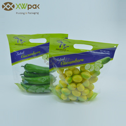 Laminated Reclosable Fresh Fruit Cucumber Packaging Bag with Air Hole