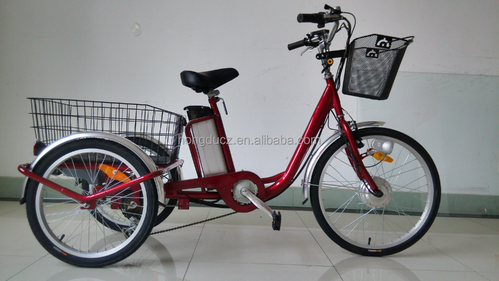 2017 hot sell tricycle handicapped electric bike 36V wholesale electric bicycles