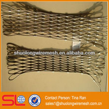 Decorative architecture stainless steel woven rope mesh net