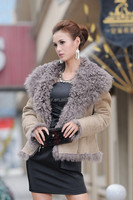 China Double Face Lamb Fur Sheep Fur Skin For Lapels Coat Jacket With Zipper