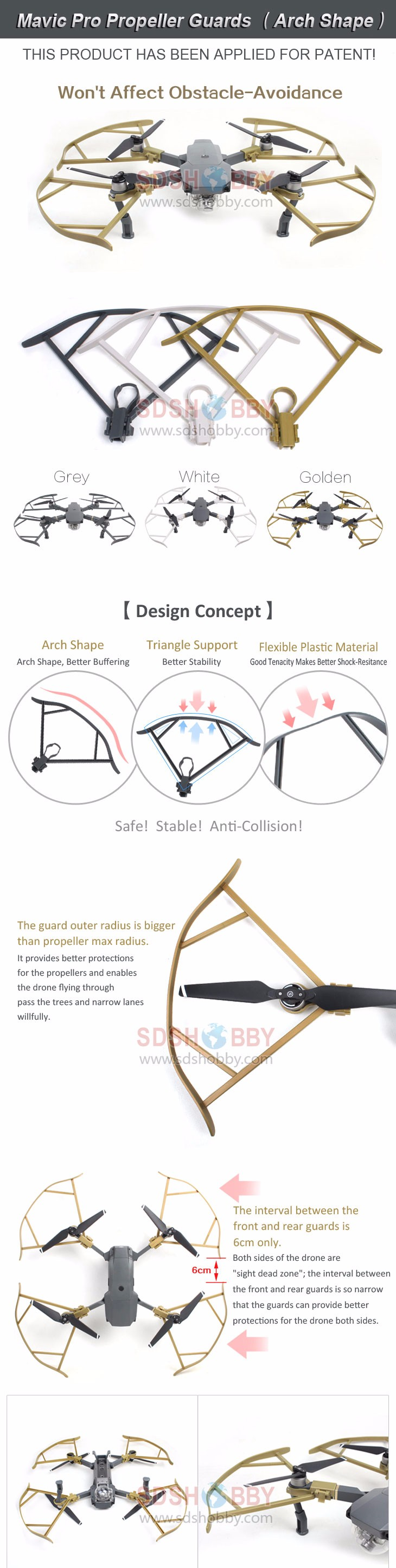 4pcs/set Not Affect Obstacle Avoidance Propeller Guard Blades Bumper Prop Protector Shielding Ring for DJI Mavic Pro Drone
