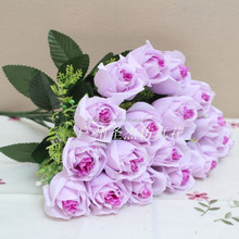 Home deocration stocking wholesale artificial rose silk flowers