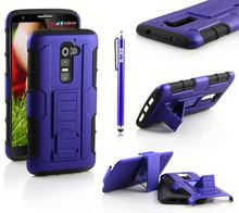 Heavy Duty Robot Carbon Fiber Case Cover For Lg G3 With Clip