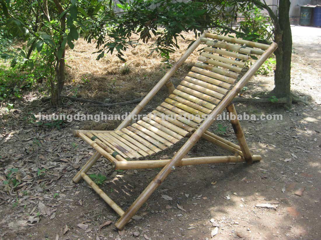 Silla de playa de bamb sillas de jard n identificaci n - Sillas de bambu ...