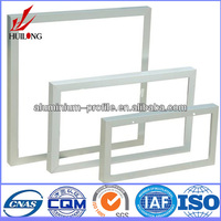 6063 alloy T5 white powder coating aluminum profile solar for windows and doors