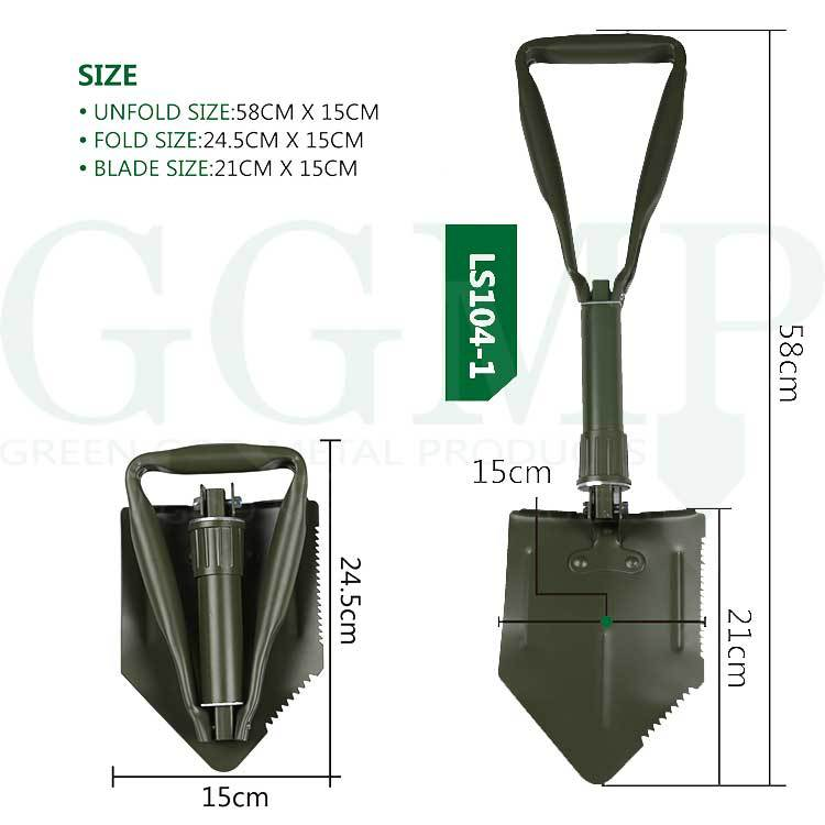 military army surplus durable Germany army tri folding shovel