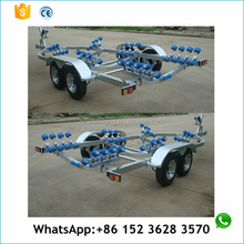 7.1m hot dip galvanized long boat trailer with rollers for europe
