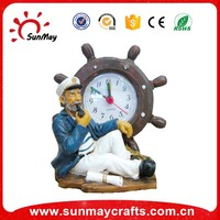 Polyresin souvenir table clock