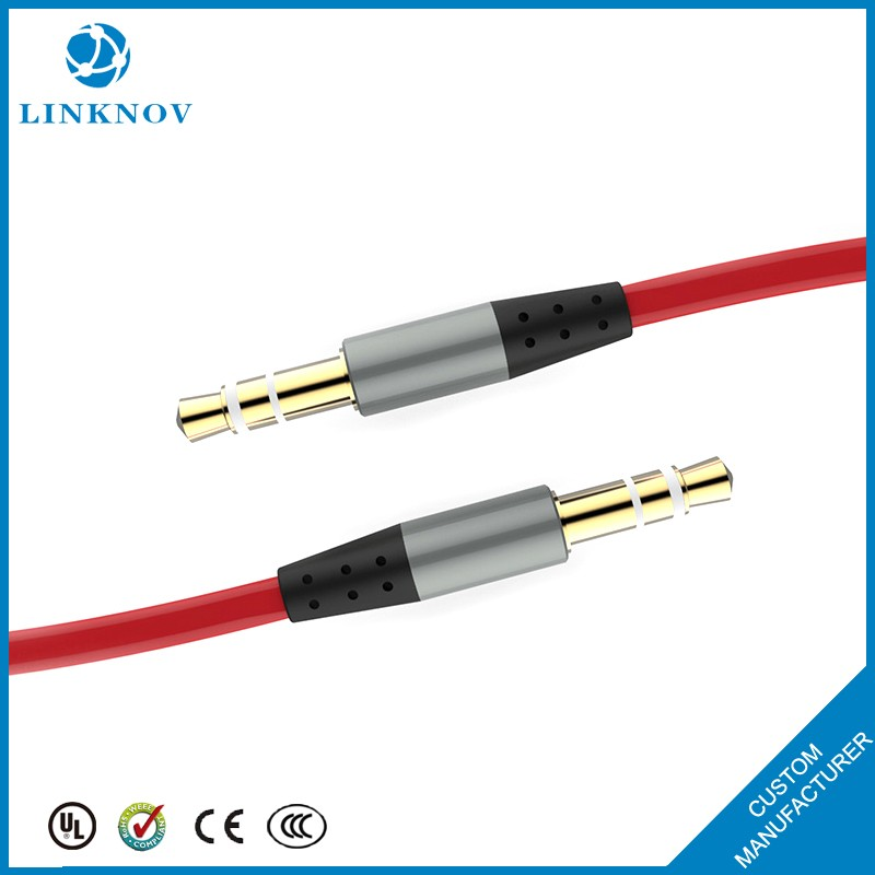 Alibaba Secure Payment cable manufacturing automobile 3.5mm aux stereo audio cable for car music