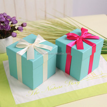 Wholesale paper color wedding favor blue gift tiffany box