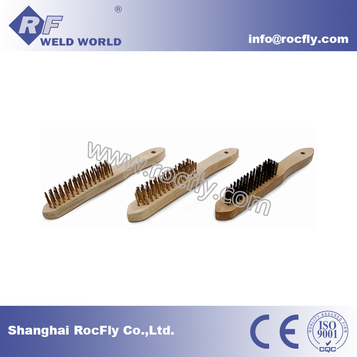 Wooden Handle Carbon Steel Wire Brush