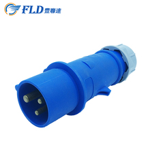 Electric plug and socket waterproof male female connector with 3 pins