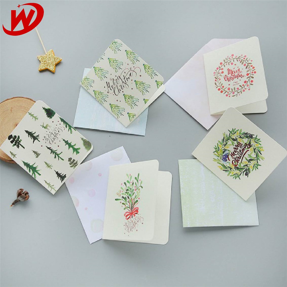 Chinese Supplier Wholesale Custom Printing Creative Memorial Christmas Greeting Card