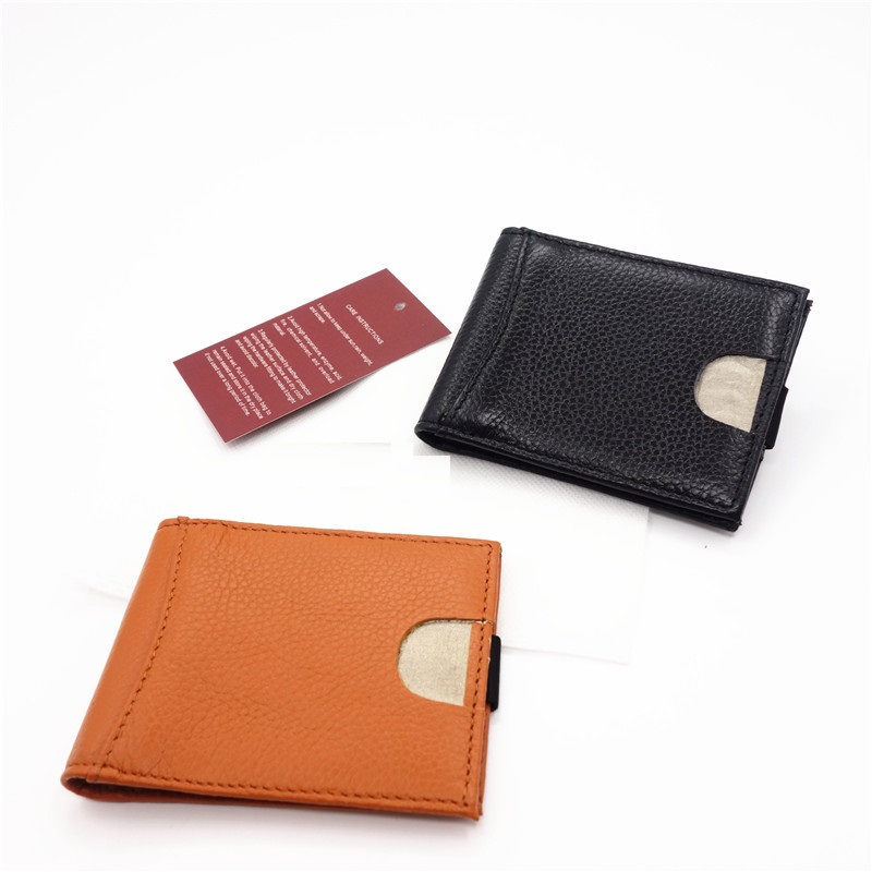 Brand Name RFID Blocking Bifold Slim Genuine Leather Thin Minimalist Front Pocket <strong>Wallets</strong> for Men Money Clip