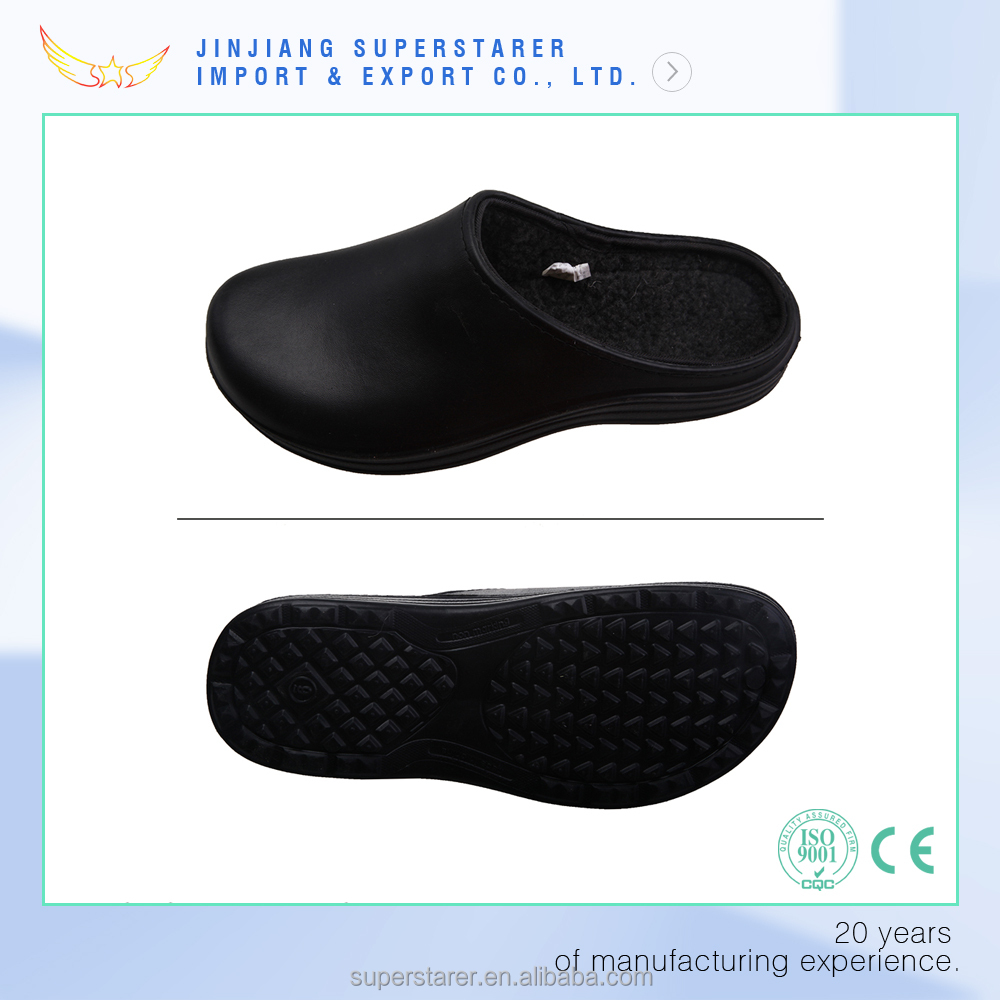 black hotel chef clogs, kitchen chef shoes clogs, nursing hospital clogs