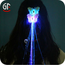 New Year Gifts Advertising Well Operated Glowing Fibre Hair Blue